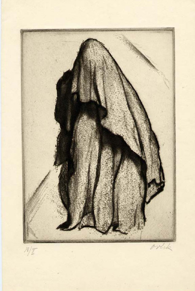 Verschleierte Araberin - Veiled Arab Woman